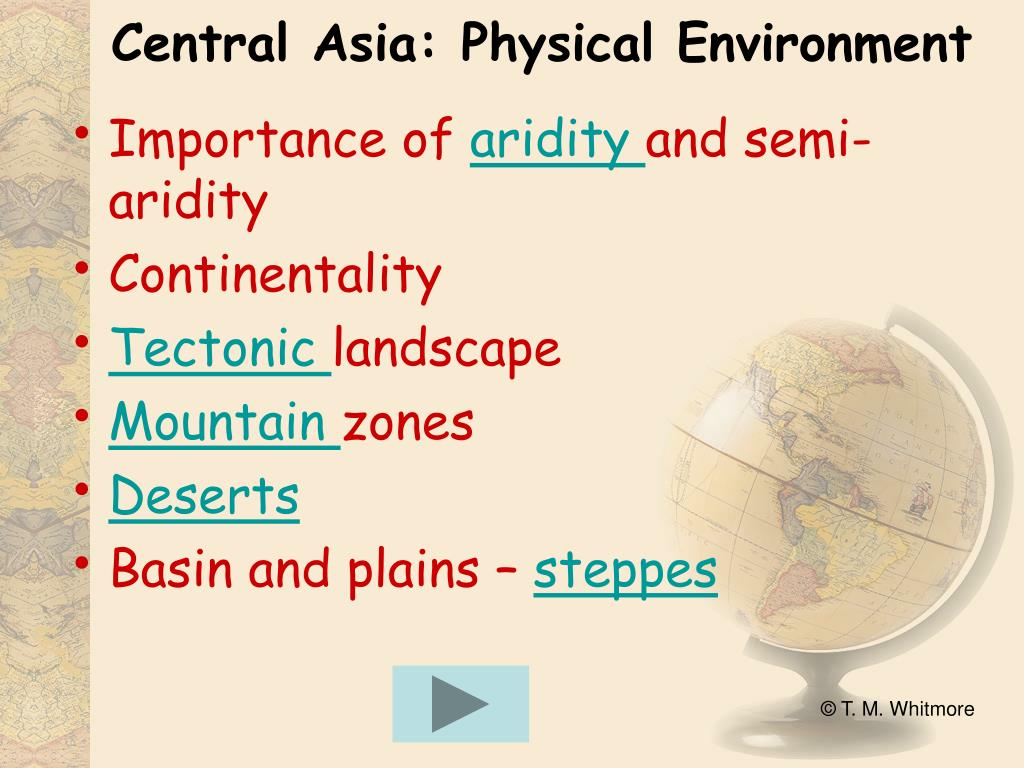 Central Asia: Physical Environment