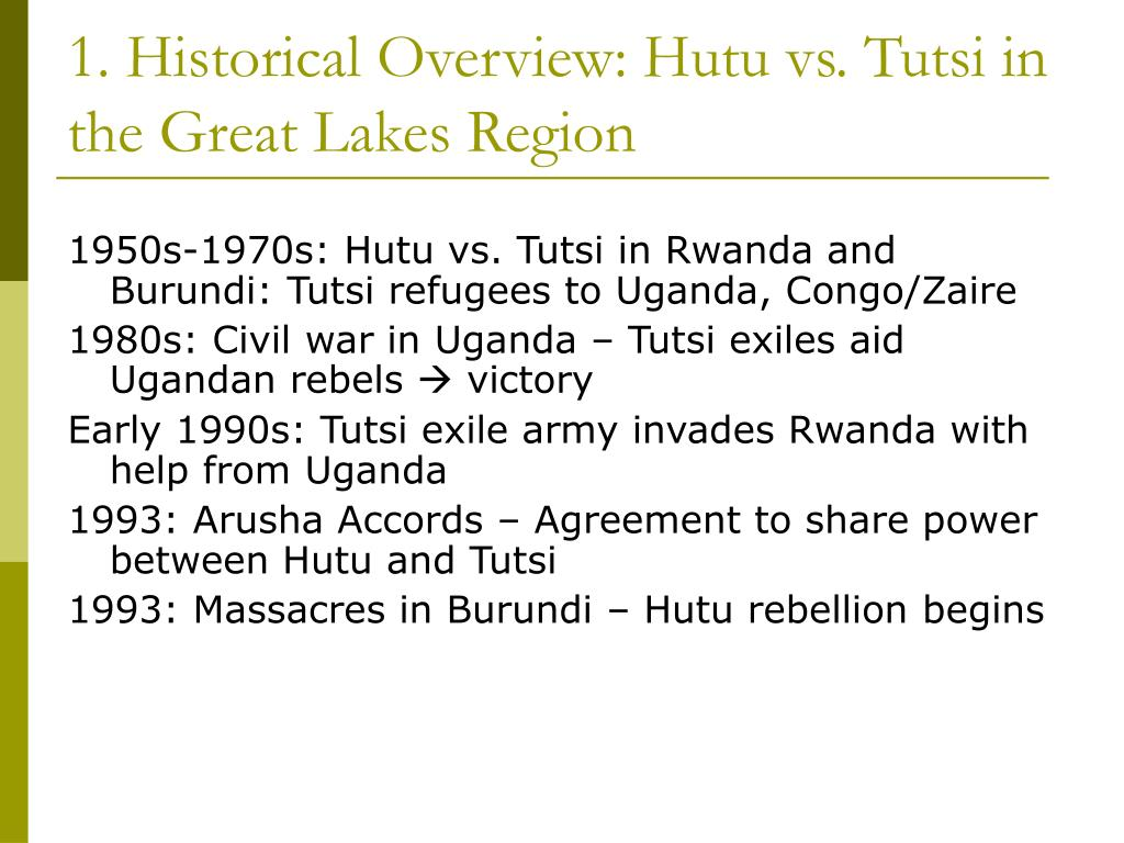1. Historical Overview: Hutu vs. Tutsi in the Great Lakes Region