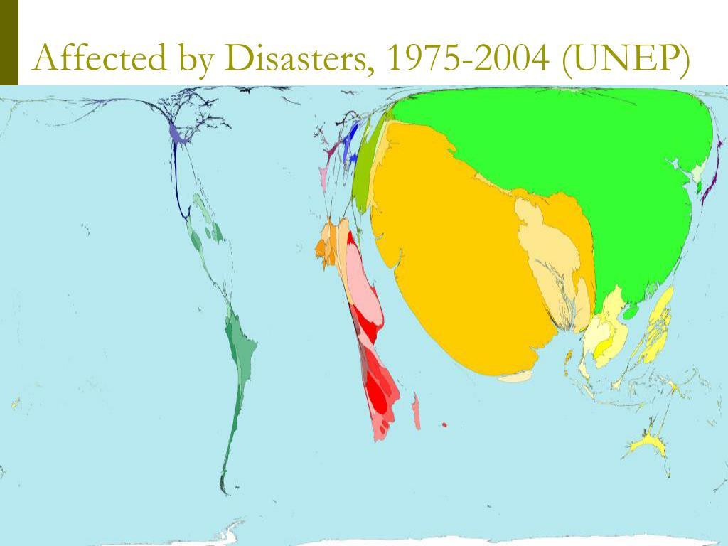 Affected by Disasters, 1975-2004 (UNEP)