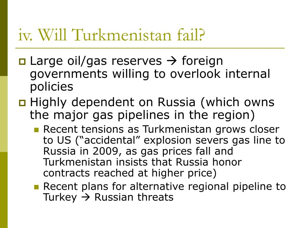 iv. Will Turkmenistan fail?