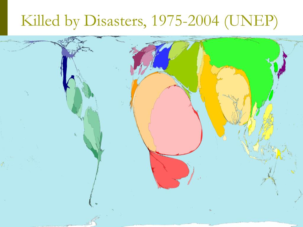 Killed by Disasters, 1975-2004 (UNEP)