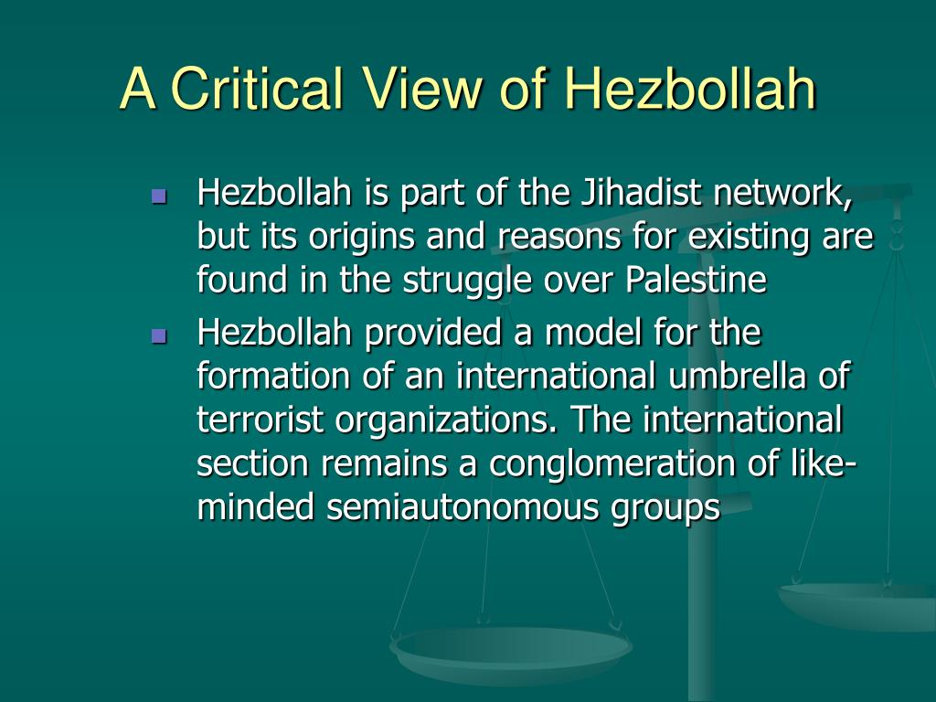 A Critical View of Hezbollah