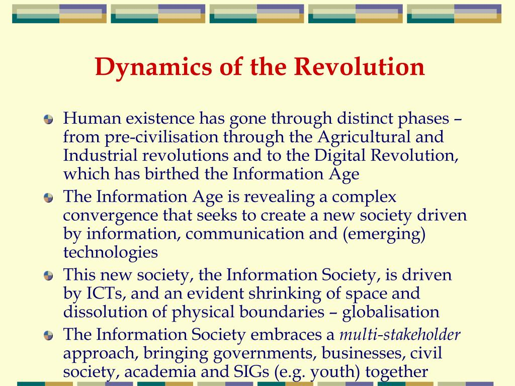 Dynamics of the Revolution