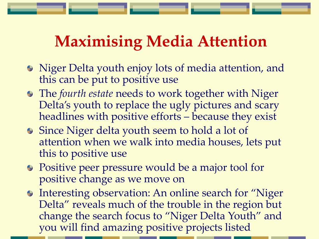 Maximising Media Attention