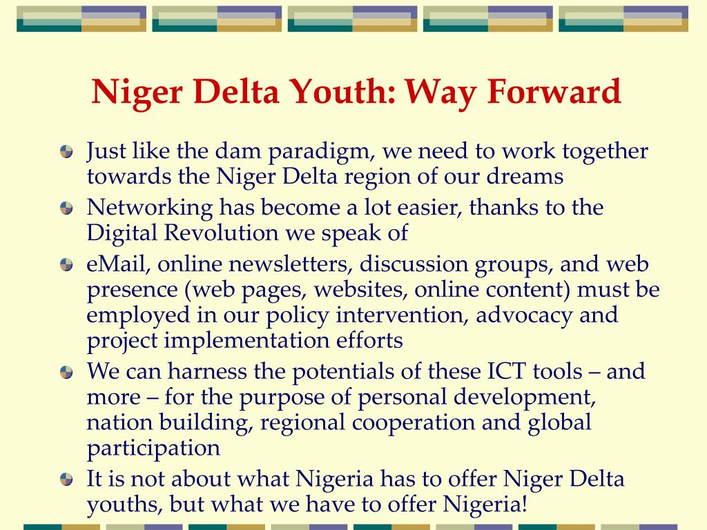 Niger Delta Youth: Way Forward