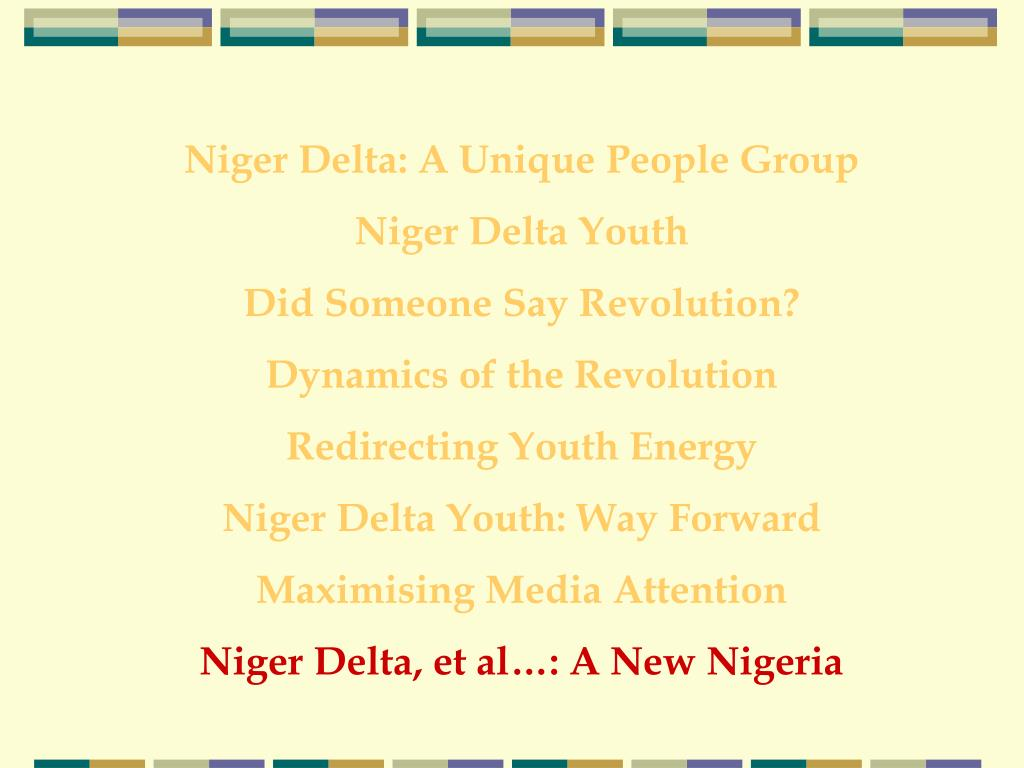 Niger Delta: A Unique People Group