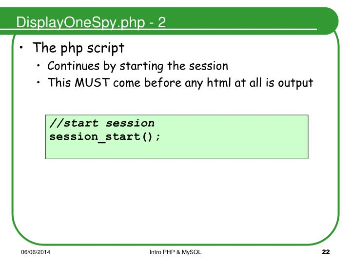 DisplayOneSpy.php - 2