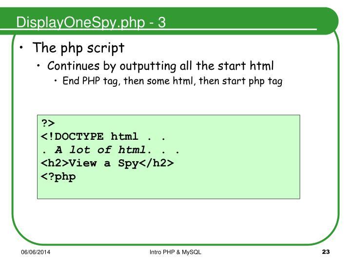 DisplayOneSpy.php - 3