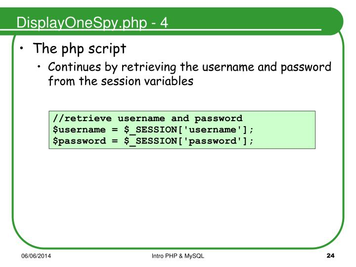 DisplayOneSpy.php - 4