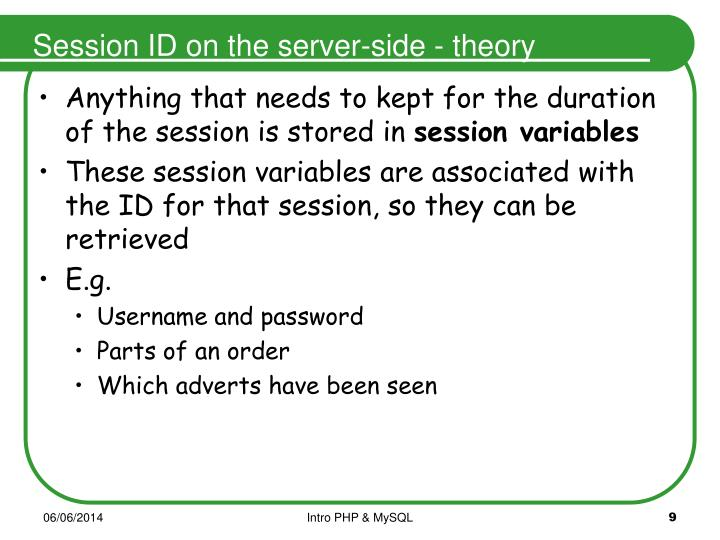 Session ID on the server-side - theory