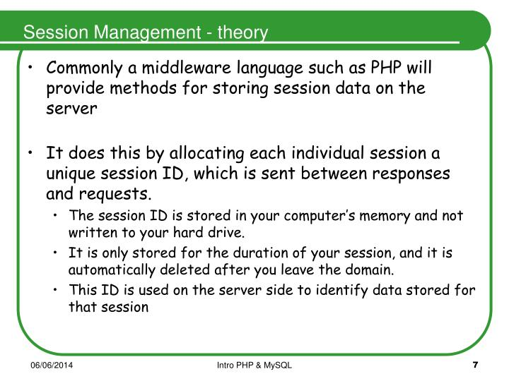 Session Management - theory