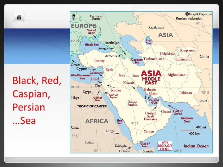 Black red caspian persian sea