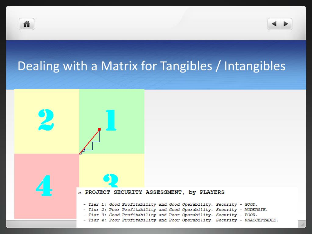 Dealing with a Matrix for Tangibles / Intangibles