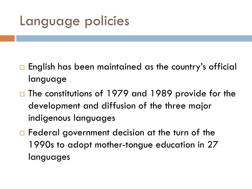 Language policies