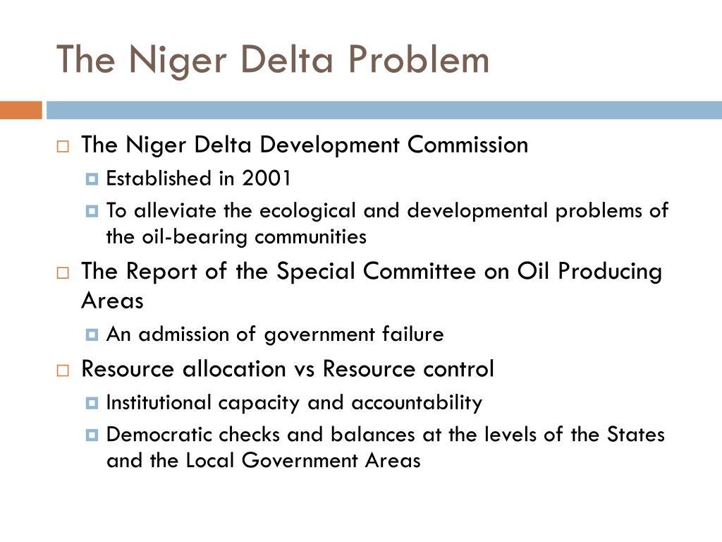 The Niger Delta Problem
