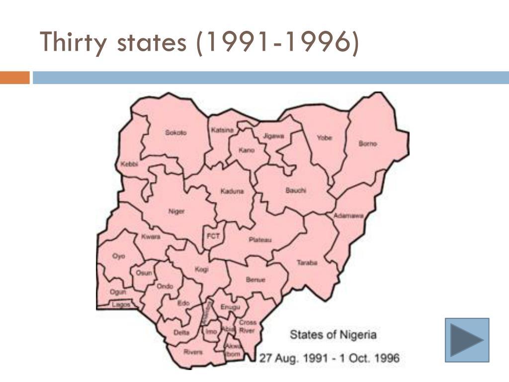 Thirty states (1991-1996)