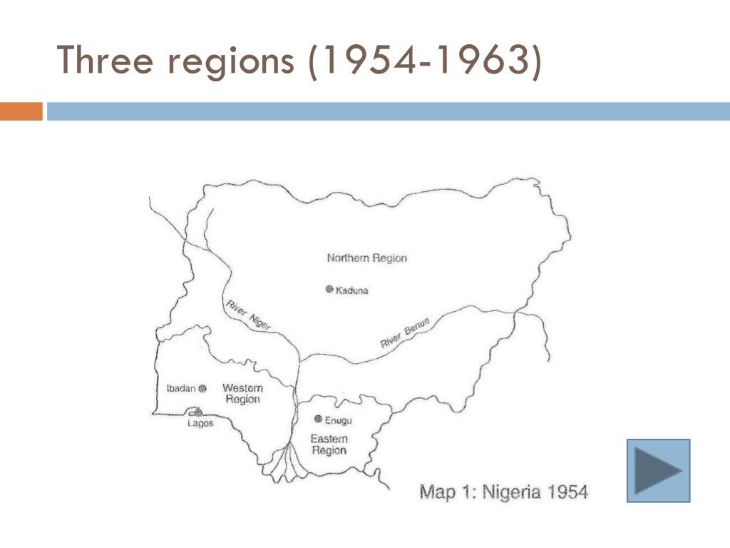 Three regions (1954-1963)