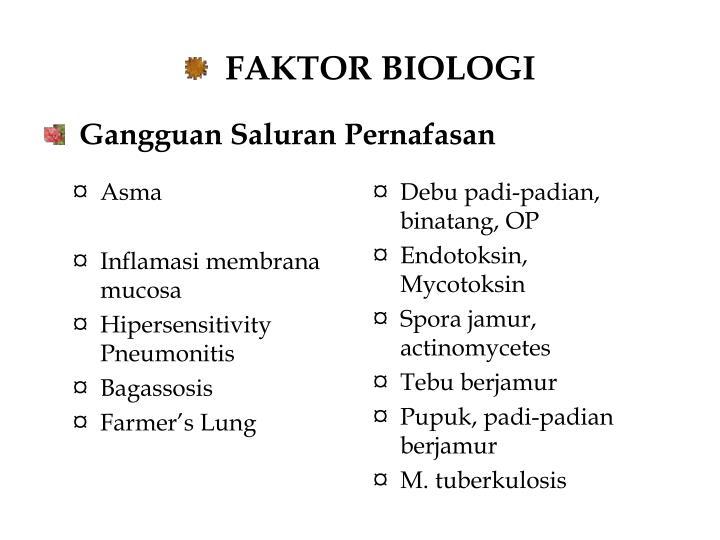 FAKTOR BIOLOGI