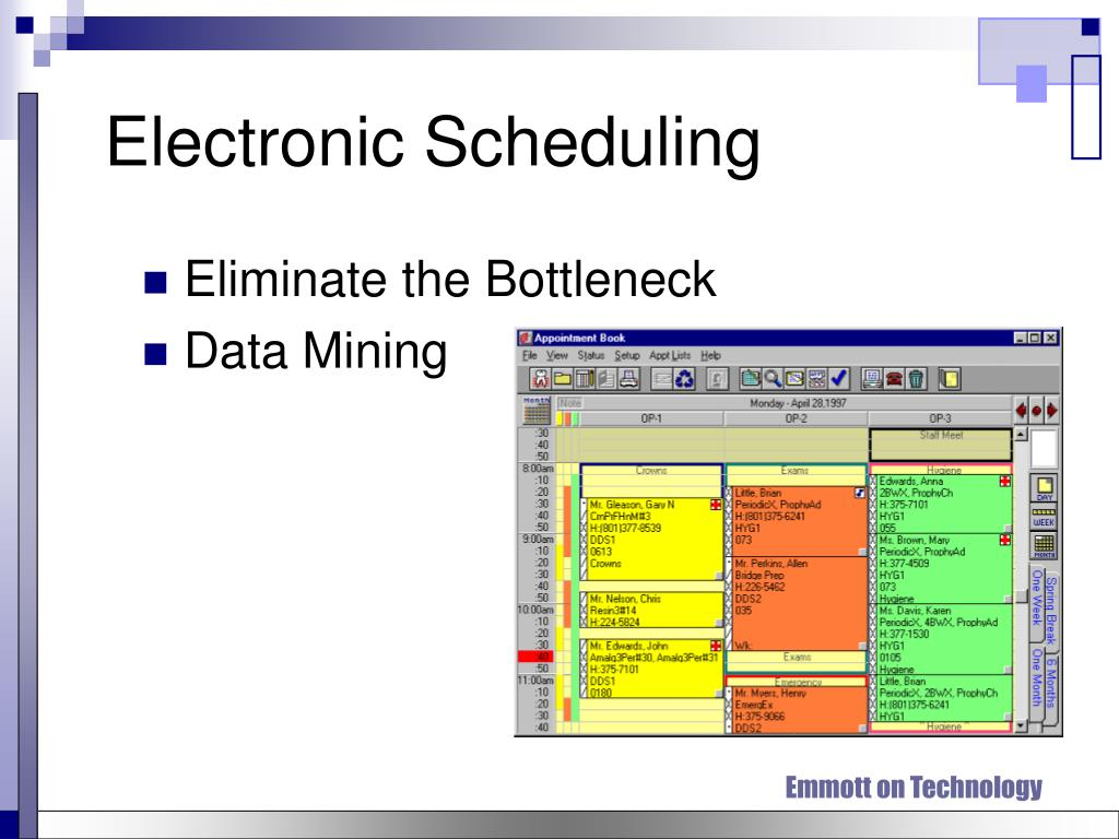 Electronic Scheduling