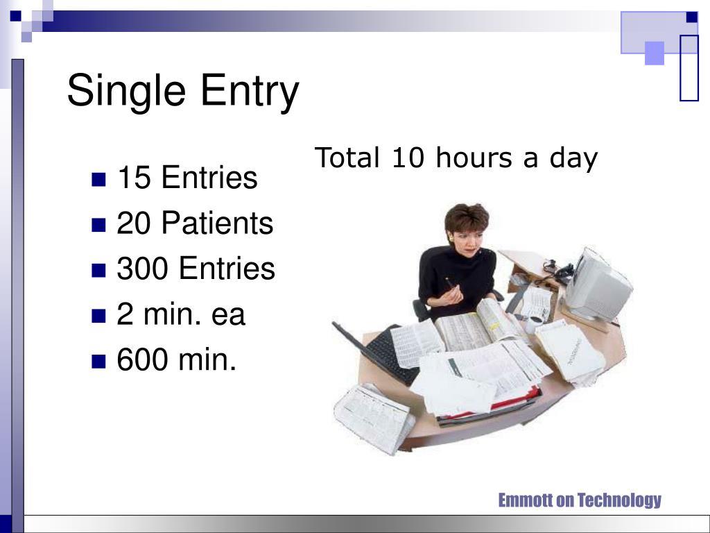Single Entry