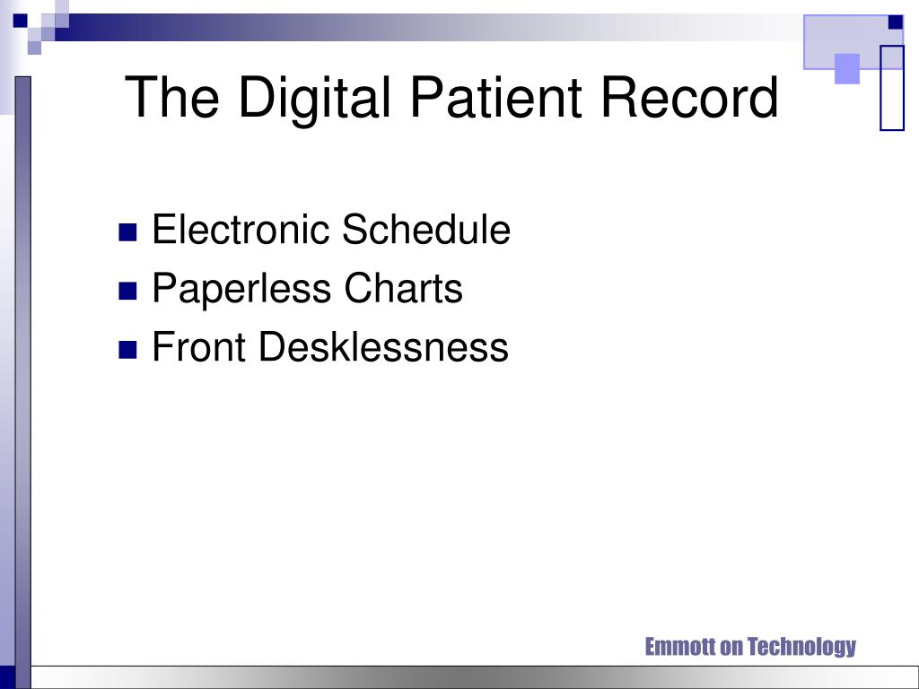 The Digital Patient Record