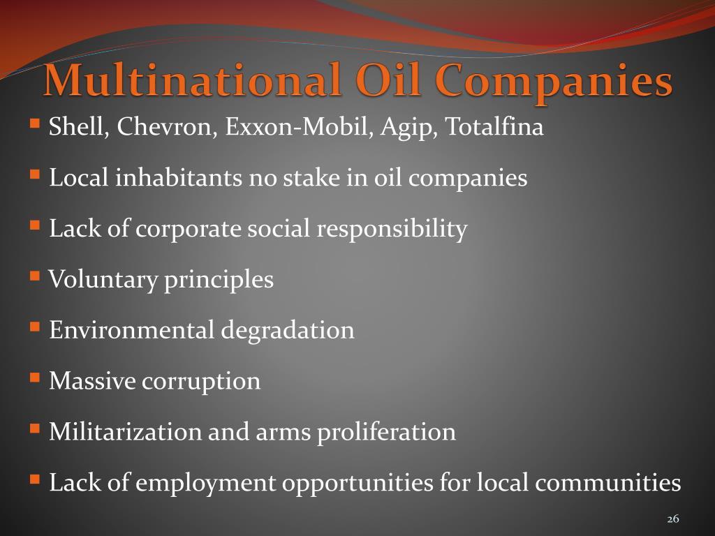 Multinational Oil Companies