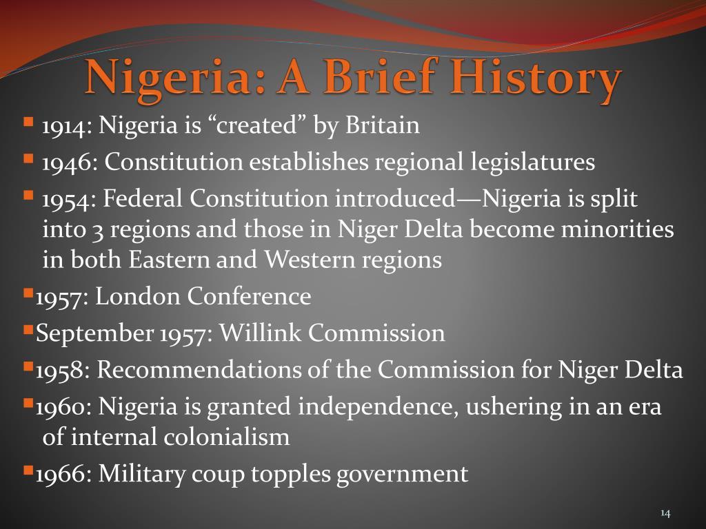 Nigeria: A Brief History