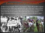 protests and demands