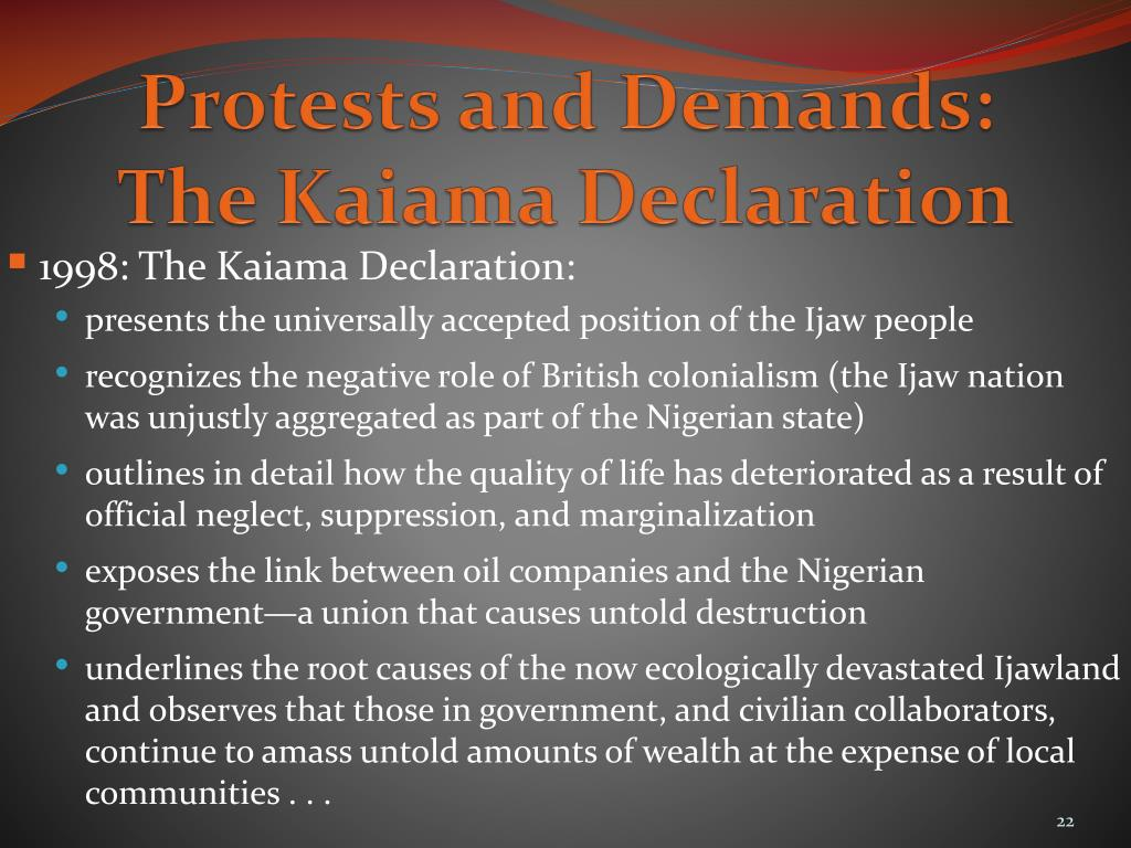 Protests and Demands:
