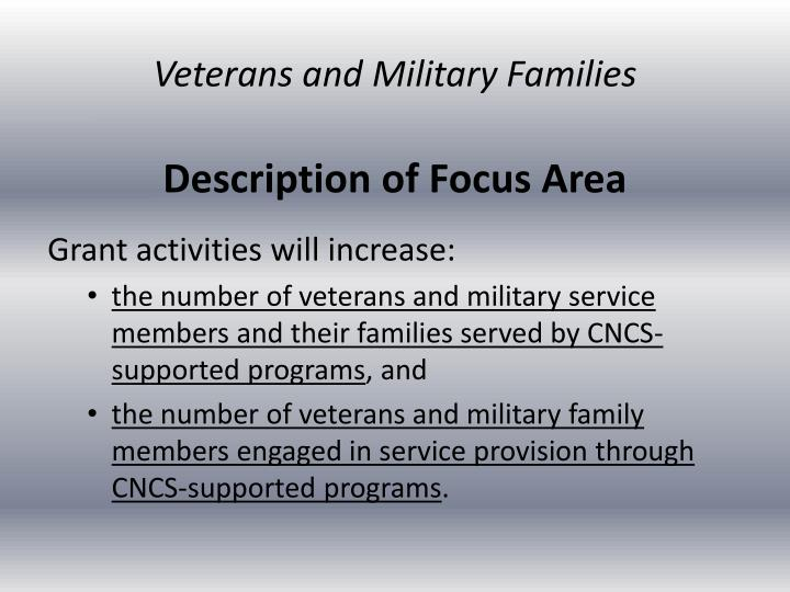 Veterans and Military Families