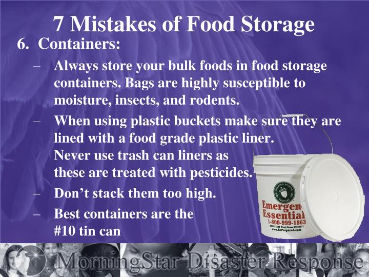 7 Mistakes of Food Storage