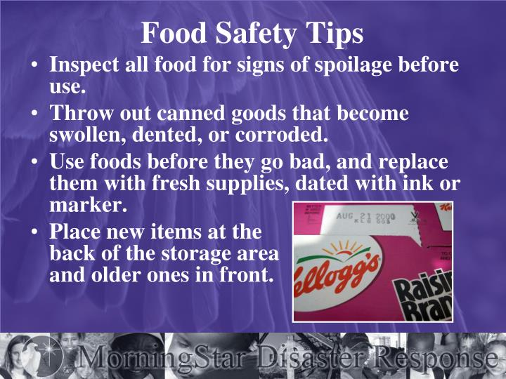 Food Safety Tips