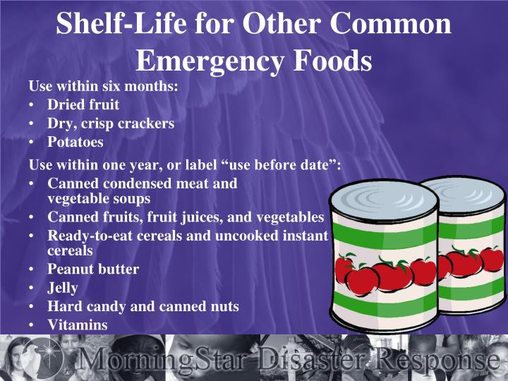 Shelf-Life for Other Common Emergency Foods