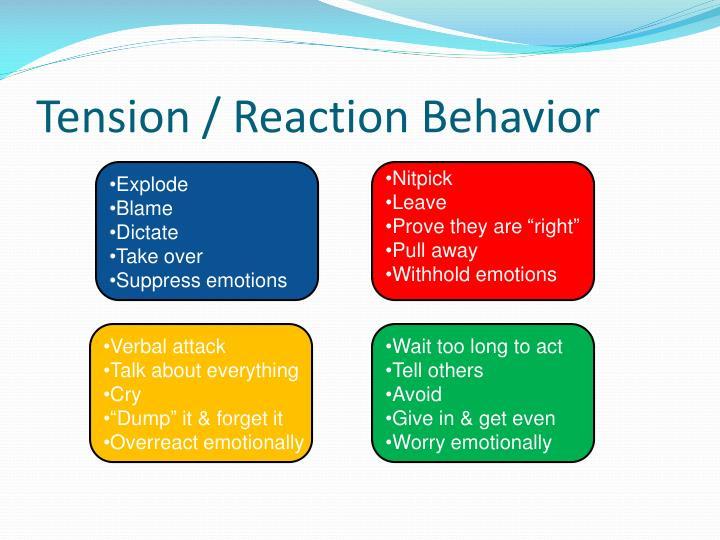 Tension / Reaction Behavior