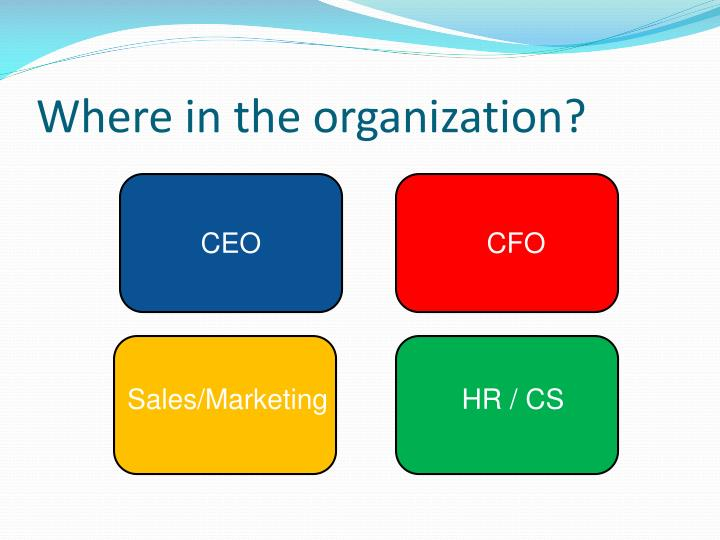 Where in the organization?