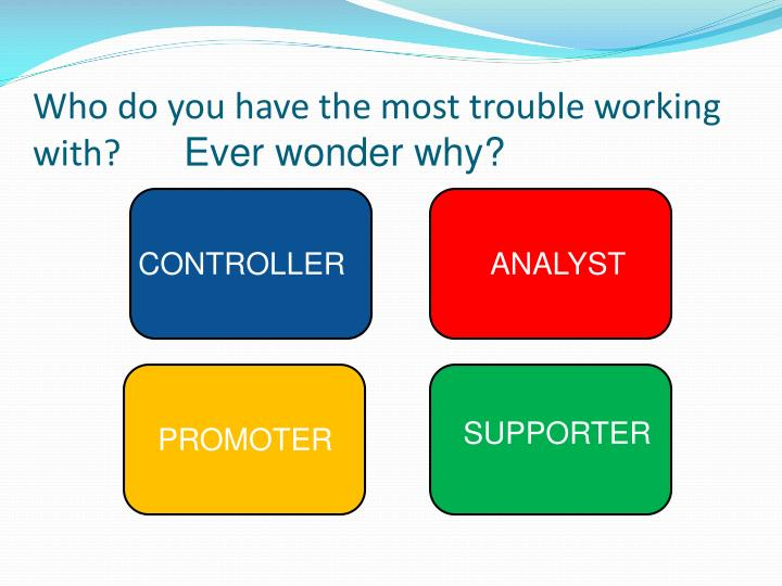Who do you have the most trouble working with?
