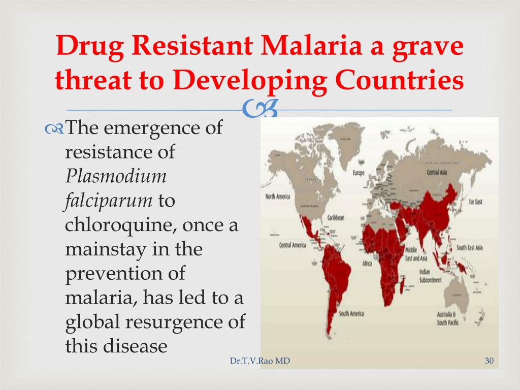 Drug Resistant Malaria a grave threat to Developing Countries