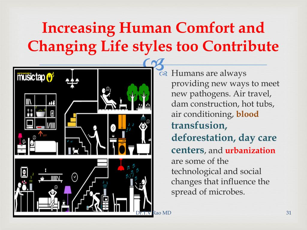 Increasing Human Comfort and Changing Life styles too Contribute