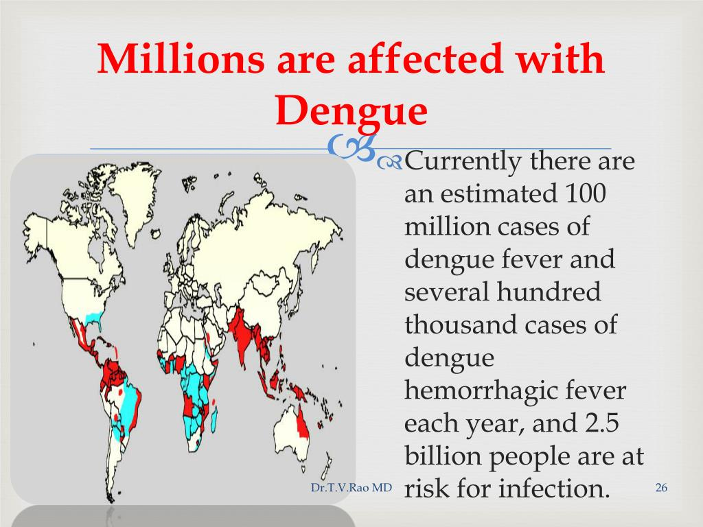 Millions are affected with Dengue