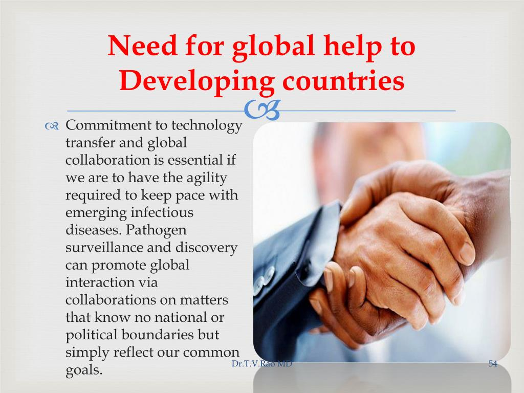 Need for global help to Developing countries