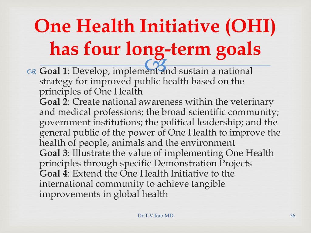 One Health Initiative (OHI)