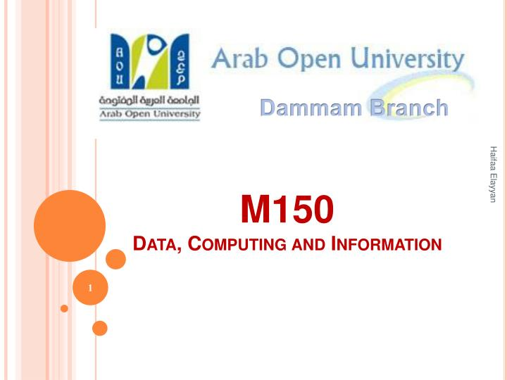 M150 data computing and information
