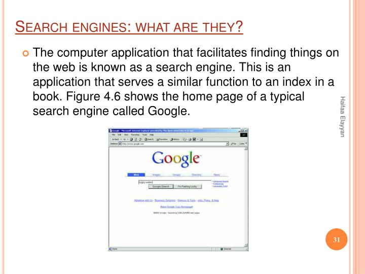 Search engines: what are they?
