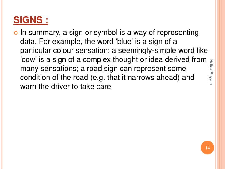 SIGNS :