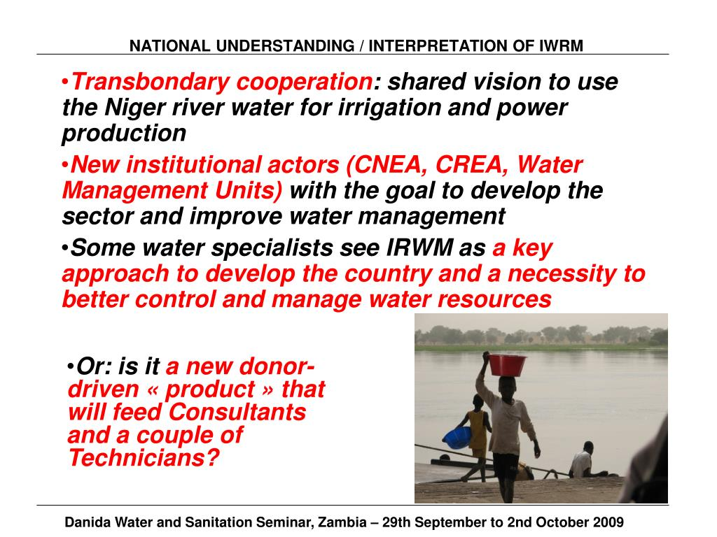NATIONAL UNDERSTANDING / INTERPRETATION OF IWRM