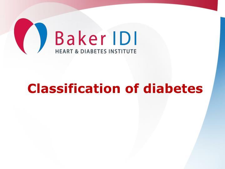 Classification of diabetes