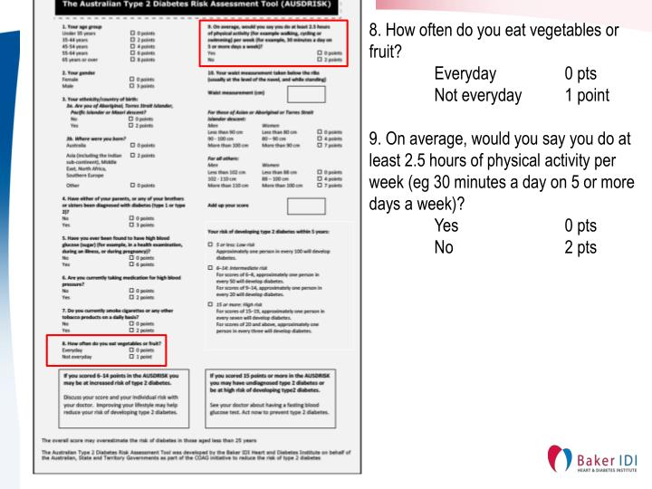 8. How often do you eat vegetables or fruit?