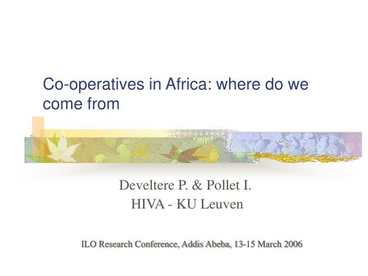 Co operatives in africa where do we come from