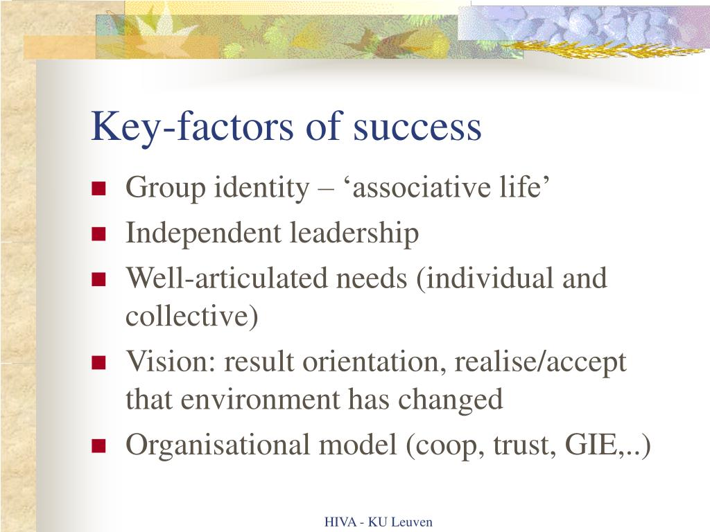 Key-factors of success