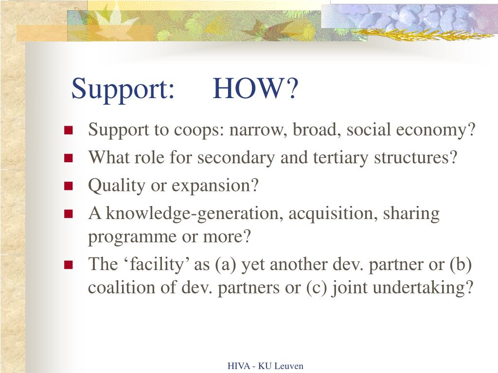 Support:HOW?
